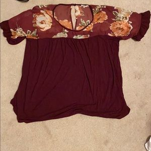 Maurices maroon top